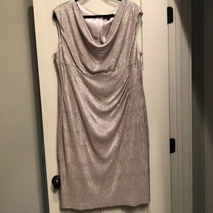 Ralph Lauren gold bling dress sz 18W